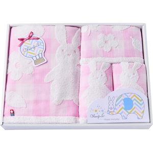Imabari for Baby&Kids (Bath×1, Face×2, Wash×1)(Pink)