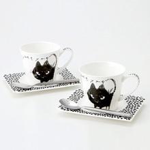 Black Cat Pair Cup & Saucer