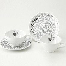 Platinum Flower Pair Cup Set