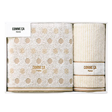 COMME CA Home の柔らか今治タオルギフト(バス1&ウォッシュ1)