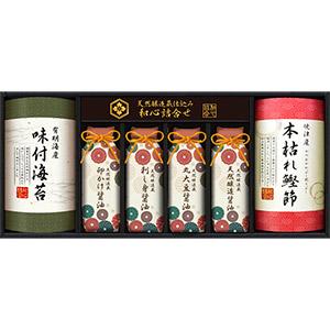 贅沢和食のプレミアムギフト(海苔×1、醤油×4、鰹節×1)