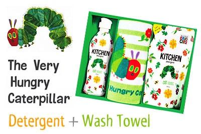 【はらぺこあおむし】デザインのキッチン洗剤セット詳細説明